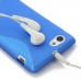 Sony Xperia J Soft Case (Blue S Shape pattern) protective carrying case by PDair