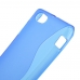 Sony Xperia J Soft Case (Blue S Shape pattern) genuine leather case by PDair