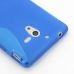 Sony Xperia ZL Soft Case (Blue S Shape pattern) protective carrying case by PDair