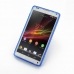 Sony Xperia ZL Soft Case (Blue S Shape pattern) genuine leather case by PDair