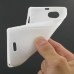 Sony Xperia J Soft Case (White S Shape pattern) top quality leather case by PDair