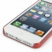 iPhone 5 5s 0.6mm Ultra thin Plastic Cover (Red) handmade leather case by PDair
