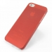 iPhone 5 5s 0.6mm Ultra thin Plastic Cover (Red) top quality leather case by PDair