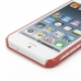 iPhone 5 5s Plastic Hard Case (Red Perforated Pattern) handmade leather case by PDair
