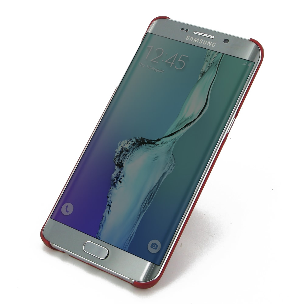 samsung galaxy s6 edge plus rubberized hard cover red. Black Bedroom Furniture Sets. Home Design Ideas
