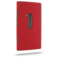 Nokia Lumia 920 Shield Hard Case (Red/Matte) PDair Premium Hadmade Genuine Leather Protective Case Sleeve Wallet