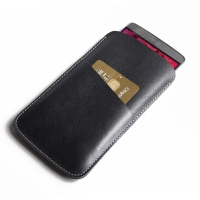 Simple Leather Card Holder Sleeve Pouch Case for LG G3 D850 D855