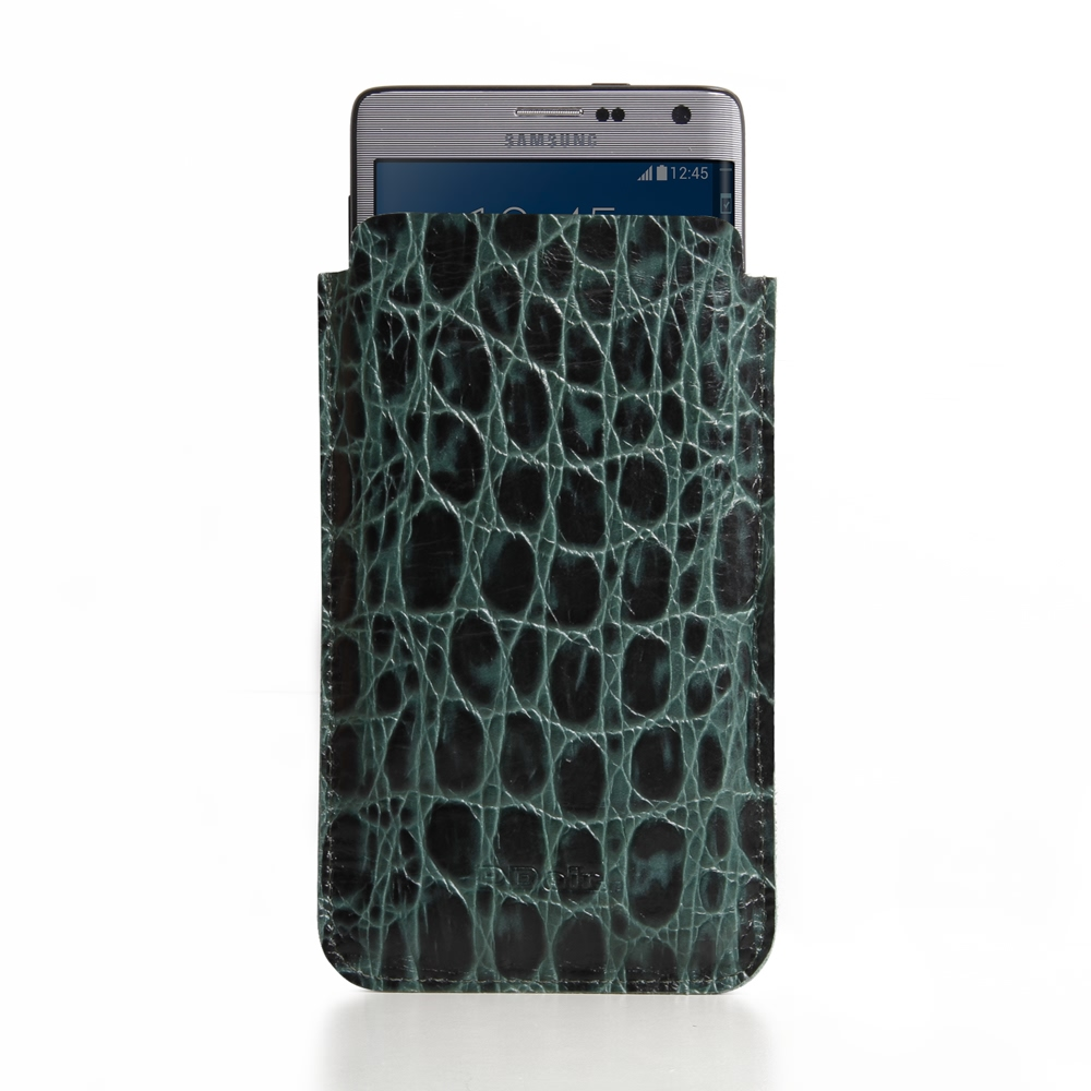10% OFF + FREE SHIPPING, Buy PDair Quality Handmade Protective Samsung Galaxy Note Edge Leather Sleeve Case (Green Croc Pattern) online. You also can go to the customizer to create your own stylish leather case if looking for additional colors, patterns a