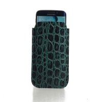 10% OFF + FREE SHIPPING, Buy Best PDair Quality Handmade Protective Samsung Galaxy S6 edge Leather Sleeve Case (Green Croc Pattern). You also can go to the customizer to create your own stylish leather case if looking for additional colors, patterns and t