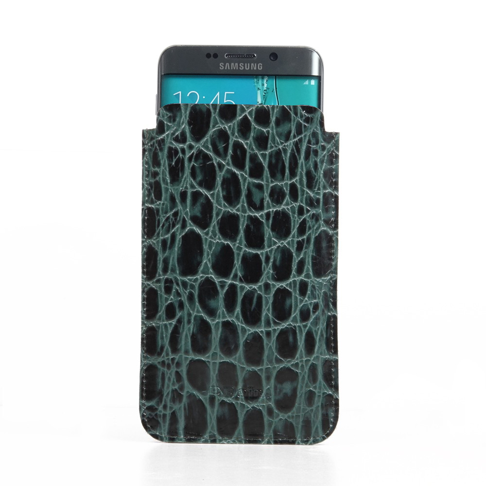 10% OFF + FREE SHIPPING, Buy PDair Quality Handmade Protective Samsung Galaxy S6 edge+ Plus Leather Sleeve Case (Green Croc Pattern). You also can go to the customizer to create your own stylish leather case if looking for additional colors, patterns and