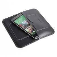 HTC One M8 Leather Sleeve Wallet PDair Premium Hadmade Genuine Leather Protective Case Sleeve Wallet