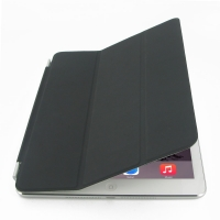 iPad Air 2 Smart Cover (Black) PDair Premium Hadmade Genuine Leather Protective Case Sleeve Wallet