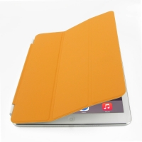 iPad Air 2 Smart Cover (Orange) PDair Premium Hadmade Genuine Leather Protective Case Sleeve Wallet