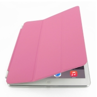 iPad Air 2 Smart Cover (Petal Pink) PDair Premium Hadmade Genuine Leather Protective Case Sleeve Wallet