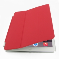 iPad Air 2 Smart Cover (Red) PDair Premium Hadmade Genuine Leather Protective Case Sleeve Wallet