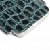 iPhone 6 6s Leather Sleeve Case (Green Croc Pattern) genuine leather case by PDair