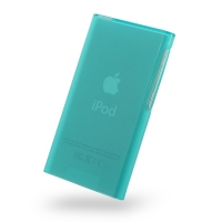 Soft Gel Plastic Case Cover for Apple iPod nano 8th / iPod nano 7th Generation (Aqua)