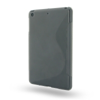 Soft Plastic Case for Apple iPad Mini (Grey S Shape Pattern)