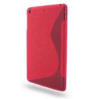 Soft Plastic Case for Apple iPad Mini (Petal Pink S Shape Pattern)