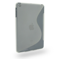 Soft Plastic Case for Apple iPad Mini (Translucent S Shape Pattern)