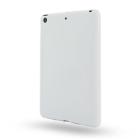 Soft Plastic Case for Apple iPad Mini (White S Shape Pattern)