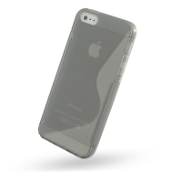 Soft Plastic Case for Apple iPhone 5 | iPhone 5s (Grey S Shape Pattern)