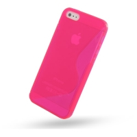 Soft Plastic Case for Apple iPhone 5 | iPhone 5s (Hot Pink S Shape Pattern)