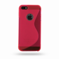 Soft Plastic Case for Apple iPhone 5 | iPhone 5s (Pink S Shape Pattern)