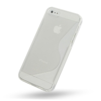Soft Plastic Case for Apple iPhone 5 | iPhone 5s (Translucent S Shape Pattern)