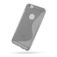 Soft Plastic Case for Apple iPhone 6 Plus | iPhone 6s Plus (Grey S Shape Pattern)