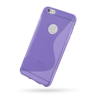 Soft Plastic Case for Apple iPhone 6 Plus | iPhone 6s Plus (Purple S Shape Pattern)