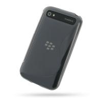 Soft Plastic Case for BlackBerry Classic (Grey S Shape Pattern)