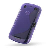 Soft Plastic Case for BlackBerry Curve 9380 (Purple)