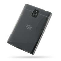 Soft Plastic Case for BlackBerry Passport (Grey S Shape Pattern)