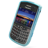 Soft Plastic Case for BlackBerry Tour 9630 (Blue)