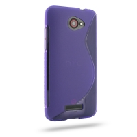 HTC Butterfly Soft Case (Purple S Shape pattern) PDair Premium Hadmade Genuine Leather Protective Case Sleeve Wallet