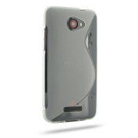HTC Butterfly Soft Case (Translucent S Shape pattern) PDair Premium Hadmade Genuine Leather Protective Case Sleeve Wallet