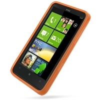 HTC HD7 T9292 Soft Case (Orange) PDair Premium Hadmade Genuine Leather Protective Case Sleeve Wallet