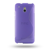 HTC One mini Soft Case (Purple S Shape pattern) PDair Premium Hadmade Genuine Leather Protective Case Sleeve Wallet