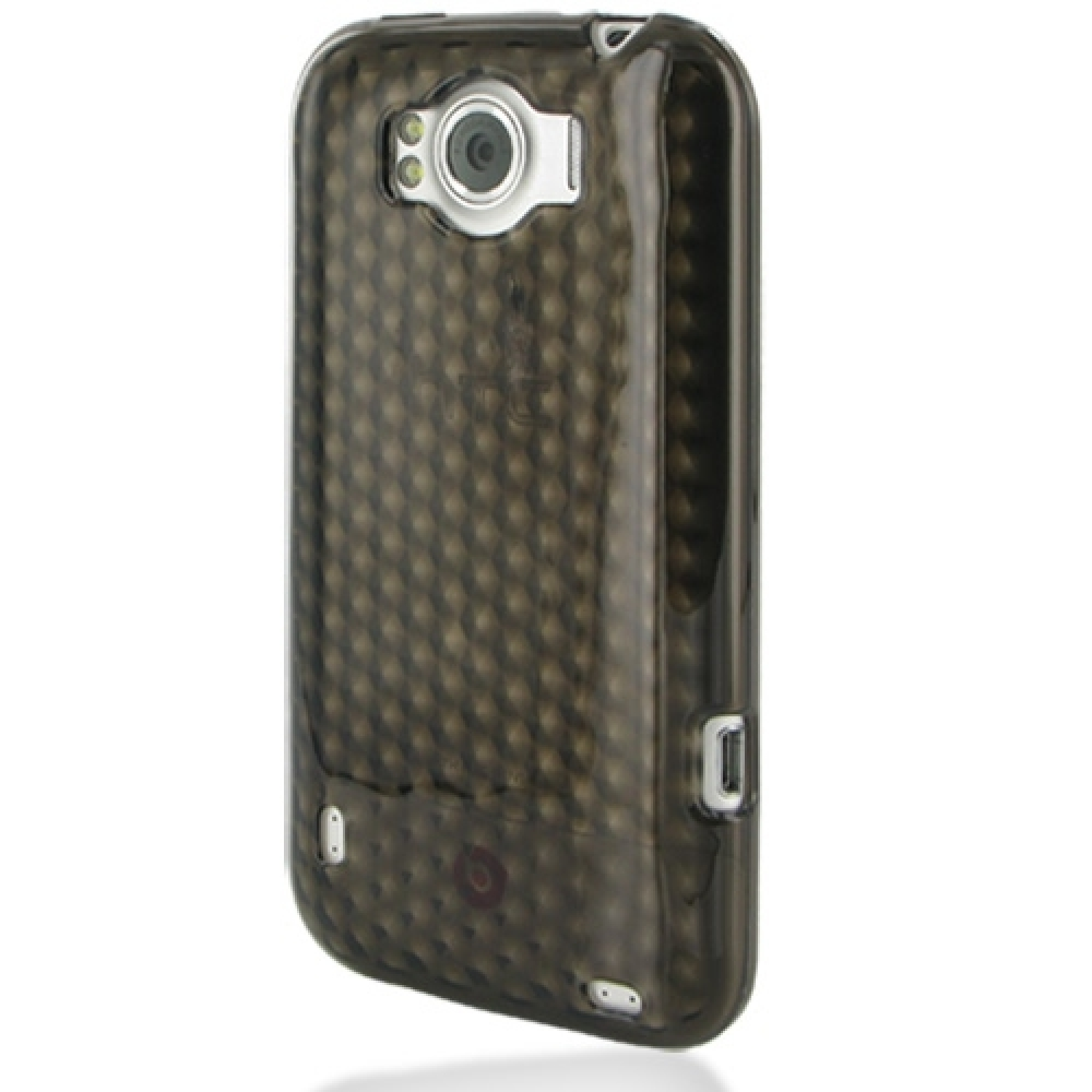 HTC Sensation XL Soft Case (Grey) PDair Premium Hadmade Genuine Leather Protective Case Sleeve Wallet