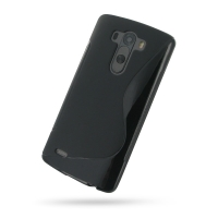 Soft Plastic Case for LG G3 D850 D855 (Black S Shape Pattern)
