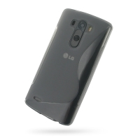 Soft Plastic Case for LG G3 D850 D855 (Grey S Shape Pattern)