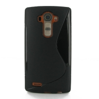 Soft Plastic Case for LG G4 H815 (Black S Shape Pattern)