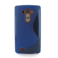 Soft Plastic Case for LG G4 H815 (Blue S Shape Pattern)