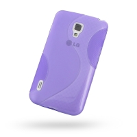 LG Optimus L7 II Dual Soft Case (Purple S Shape pattern) PDair Premium Hadmade Genuine Leather Protective Case Sleeve Wallet