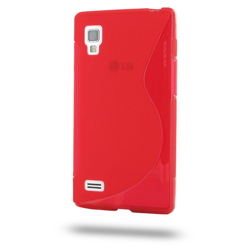 LG Optimus L9 P760 Soft Case (Red S Shape pattern ...