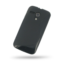 Soft Plastic Case for Motorola MOTO G XT1032 (Black S Shape Pattern)