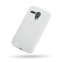 Soft Plastic Case for Motorola MOTO G XT1032 (White S Shape Pattern)