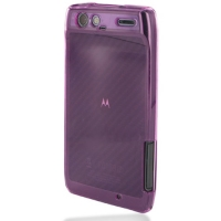 Soft Plastic Case for Motorola RAZR XT910/Droid RAZR XT912 (Purple)