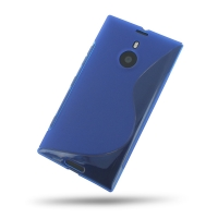 Nokia Lumia 1520 Soft Case (Blue S Shape pattern) PDair Premium Hadmade Genuine Leather Protective Case Sleeve Wallet